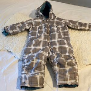 H&M Plaid Toddler Fleece-lined Snowsuit w/Hood 18M